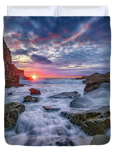 Sunrise At Bald Head Cliff Duvet Cover