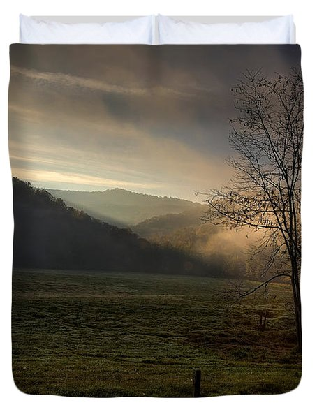 Duvet Cover featuring the photograph Sunrise At Big Hollow by Michael Dougherty