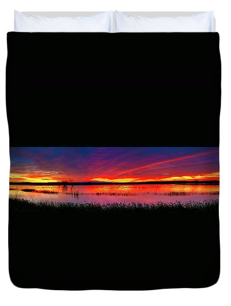 Sunrise At Bosque Del Apache Duvet Cover