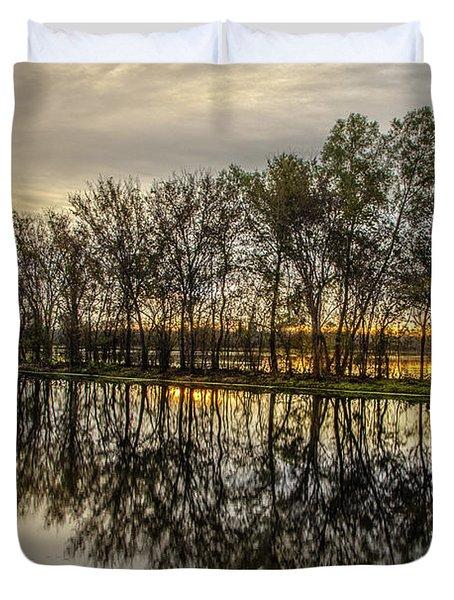 Sunrise At Brazos Duvet Cover