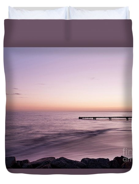 Duvet Cover featuring the photograph Sunrise At Busselton by Ivy Ho