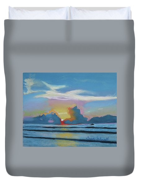 Sunrise At Cape Canaveral Beach Duvet Cover