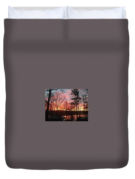 Sunrise At Carolina Trace Duvet Cover