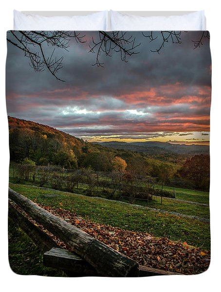 Sunrise At Cone House Duvet Cover