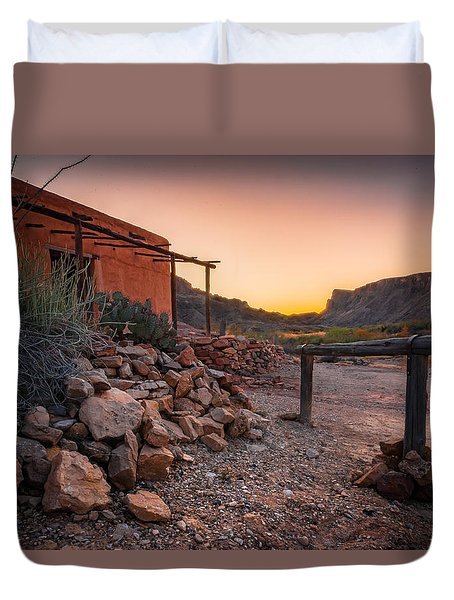 Duvet Cover featuring the photograph Sunrise At Contrabando by Allen Biedrzycki