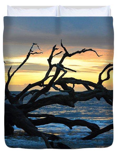 Sunrise At Driftwood Beach 1.1 Duvet Cover by Bruce Gourley