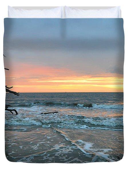 Sunrise At Driftwood Beach 1.3 Duvet Cover by Bruce Gourley