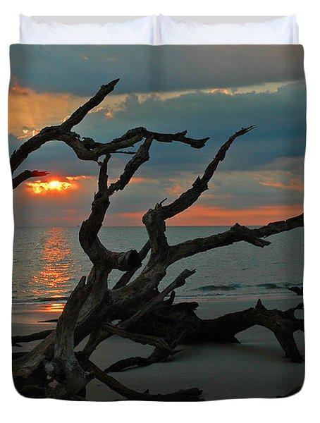 Sunrise At Driftwood Beach 2.2 Duvet Cover by Bruce Gourley
