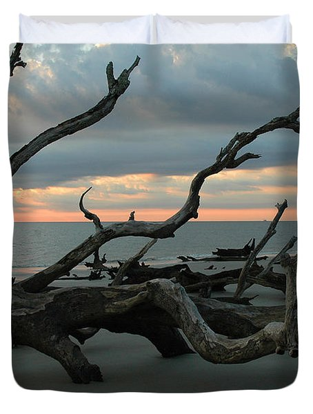Sunrise At Driftwood Beach 4.1 Duvet Cover by Bruce Gourley