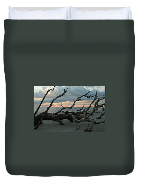Sunrise At Driftwood Beach 4.1 Duvet Cover