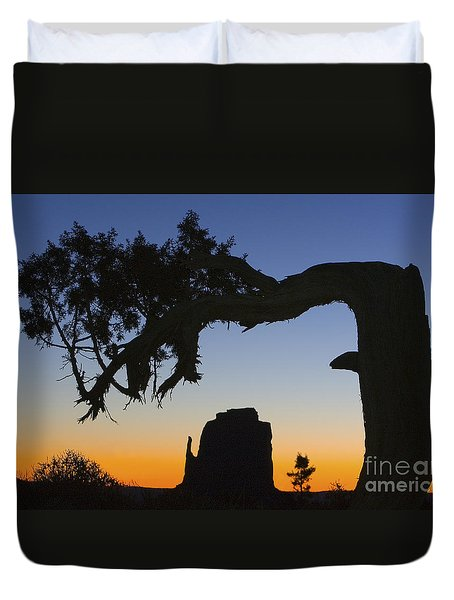 Sunrise At East Mitten Duvet Cover by Jerry Fornarotto