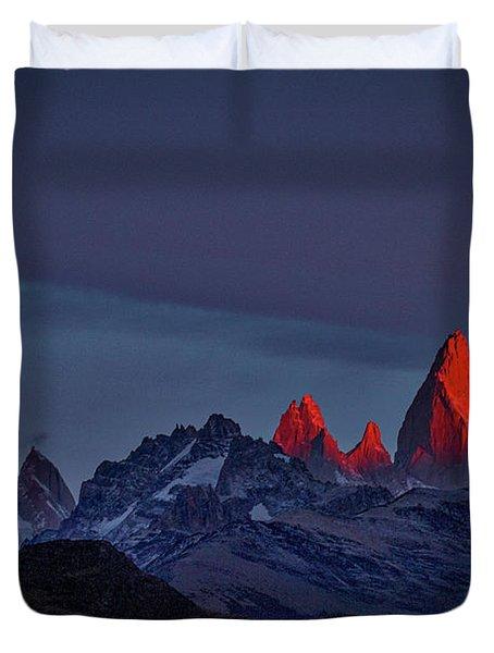Sunrise At Fitz Roy #2 - Patagonia Duvet Cover