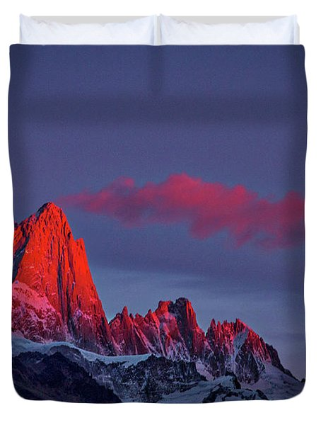 Sunrise At Fitz Roy #3 - Patagonia Duvet Cover