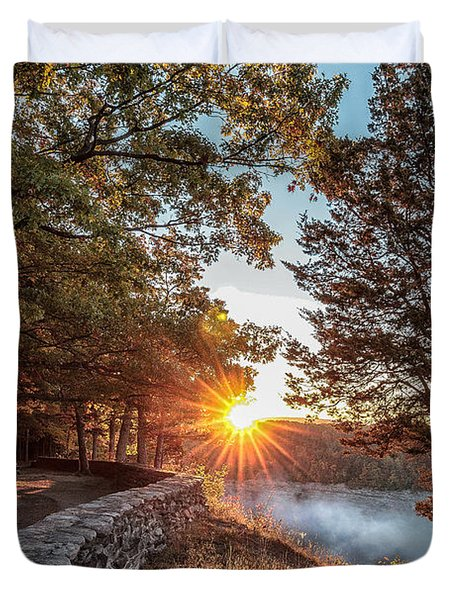 Sunrise At Great Bend Duvet Cover