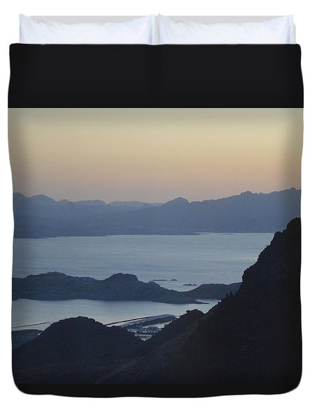Sunrise At Hoover Dam Duvet Cover