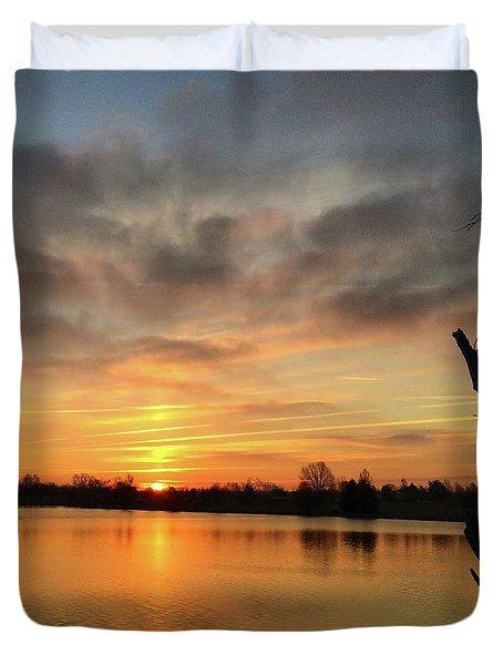 Sunrise At Jacobson Lake Duvet Cover