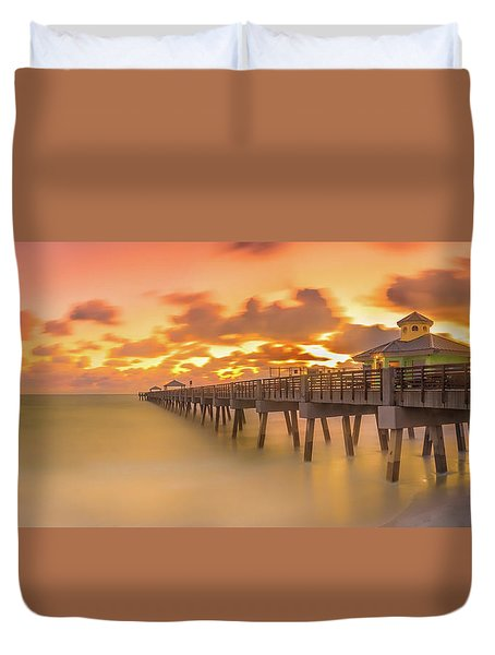 Sunrise At Juno Beach Duvet Cover