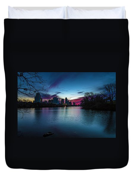 Sunrise At Lou Neff Point Duvet Cover