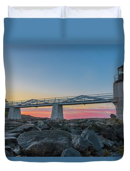 Sunrise At Marshall Point Duvet Cover