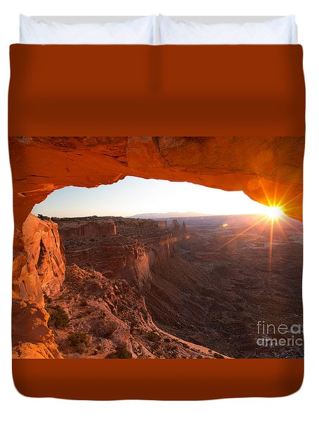 Sunrise At Mesa Arch Duvet Cover