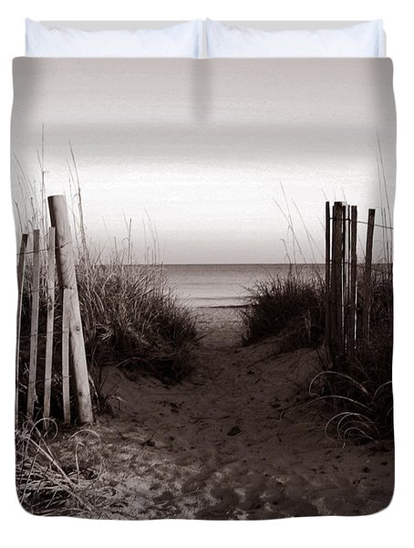 Sunrise At Myrtle Beach Sc Duvet Cover by Susanne Van Hulst