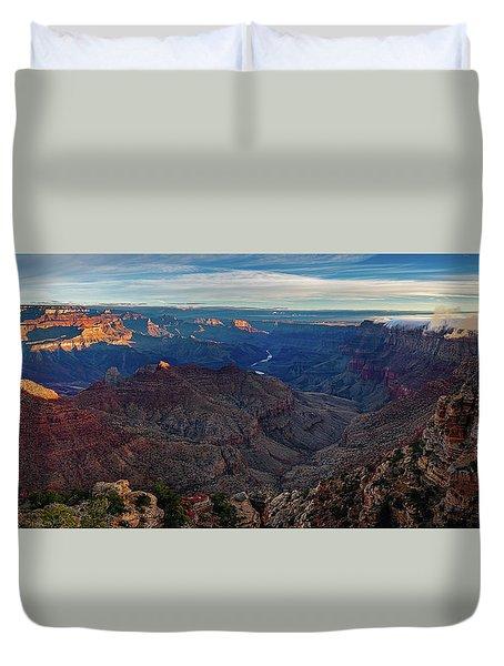 Sunrise At Navajo Point Duvet Cover