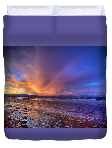 Sunrise At Newborough Duvet Cover