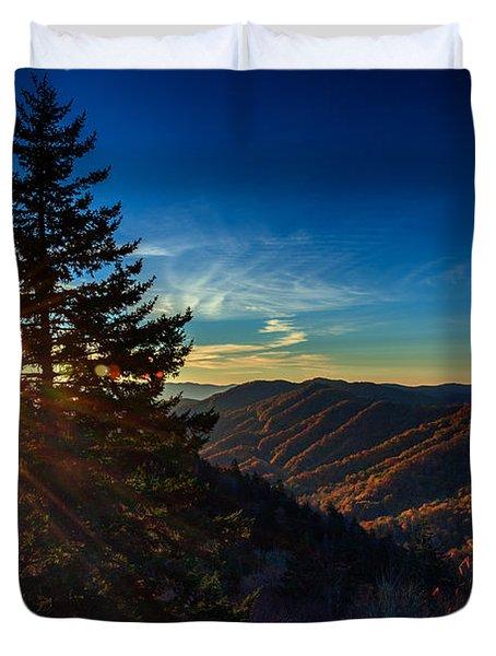 Sunrise At Newfound Gap Duvet Cover