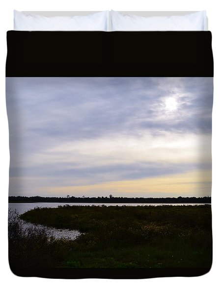 Sunrise At Orange Creek Duvet Cover