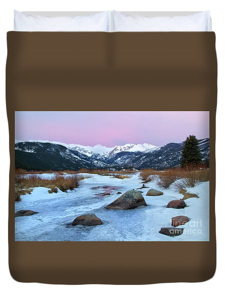 Sunrise At Rocky Mountain National Park Duvet Cover by Ronda Kimbrow