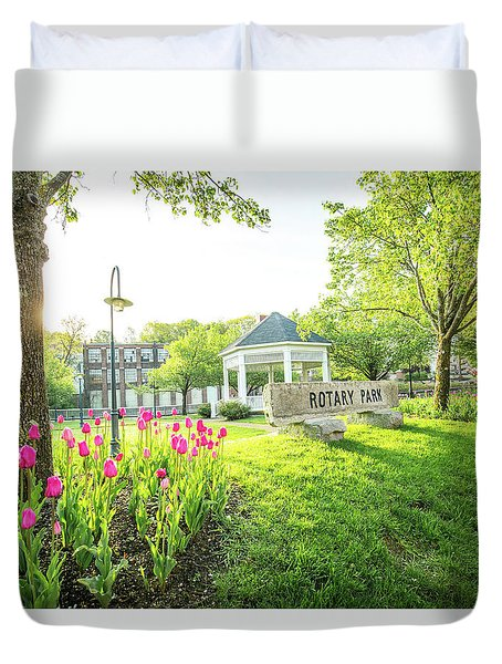 Sunrise At Rotary Park Duvet Cover