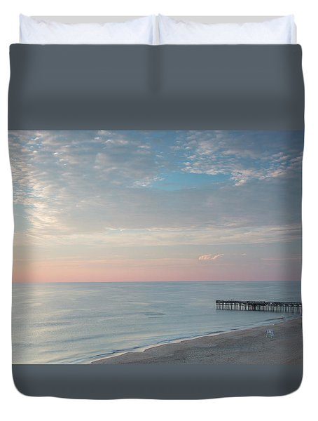 Sunrise At Sandbridge, Va Duvet Cover