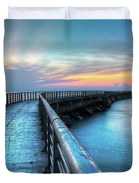 Sunrise At Sebastian Inlet Duvet Cover
