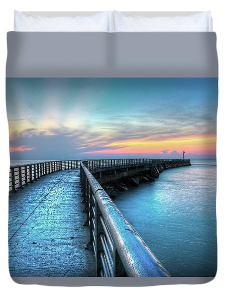 Sunrise At Sebastian Inlet Duvet Cover