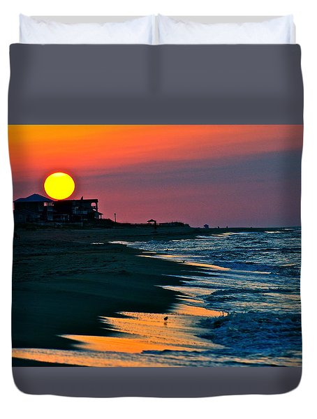 Sunrise At St. George Island Florida Duvet Cover