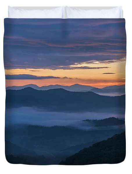 Sunrise At Standing Indian Gap Duvet Cover