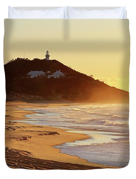 Sunrise At Sugarloaf Point Duvet Cover