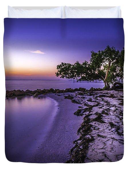 End Of The Beach Duvet Cover