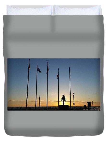 Sunrise At The Firefighters Memorial Duvet Cover