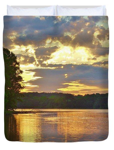 Sunrise At The Landing Duvet Cover
