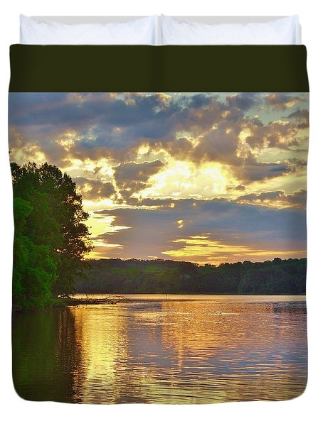 Sunrise At The Landing Duvet Cover