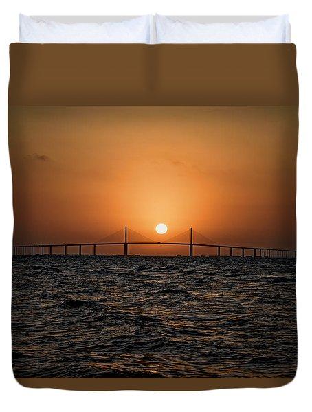 Sunrise At The Skyway Bridge 2 Duvet Cover