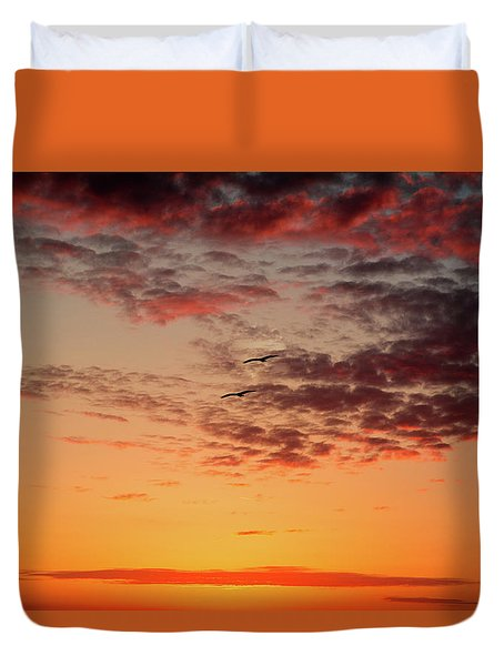 Sunrise At Treasure Island Duvet Cover