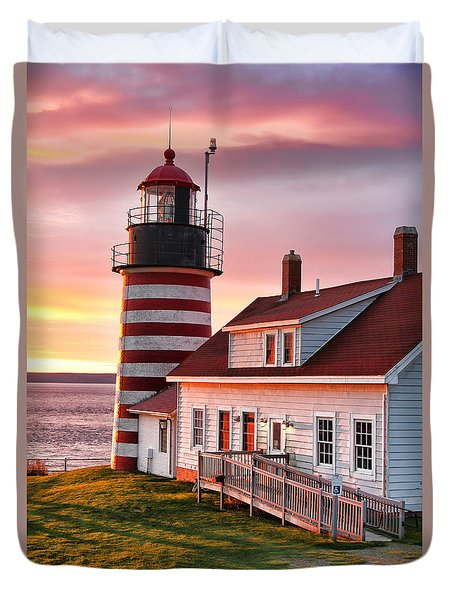 West Quoddy Head Lighthouse 3747 Duvet Cover