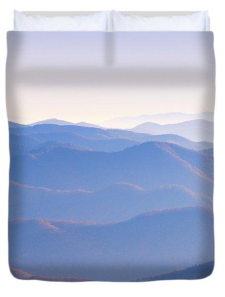 Sunrise Atop Clingman's Dome Ltriptych Duvet Cover