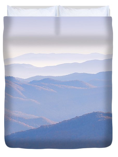 Sunrise Atop Clingman's Dome  Mtriptych Duvet Cover