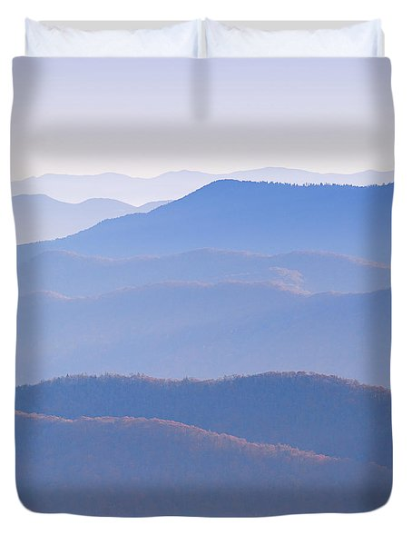 Sunrise Atop Clingman's Dome  Rtriptych Duvet Cover
