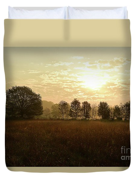 Sunrise Autumn Equinox 2017 Duvet Cover