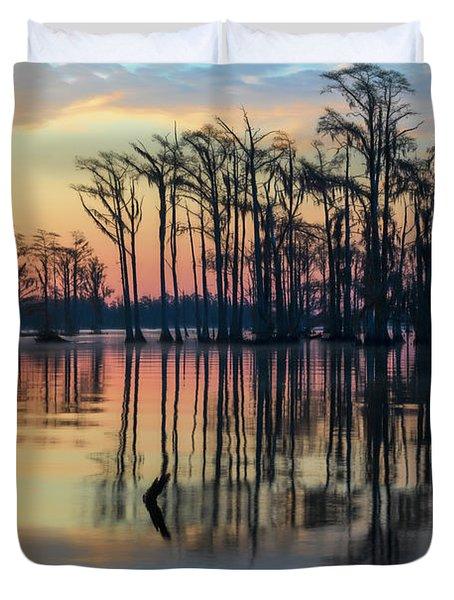 Sunrise, Bald Cypress Of Nc  Duvet Cover