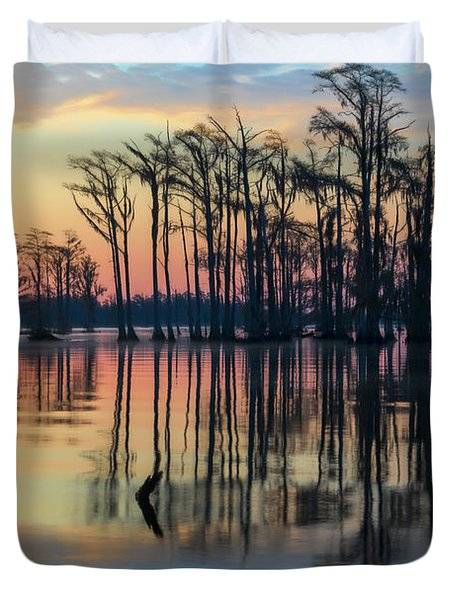 Sunrise, Bald Cypress Of Nc  Duvet Cover
